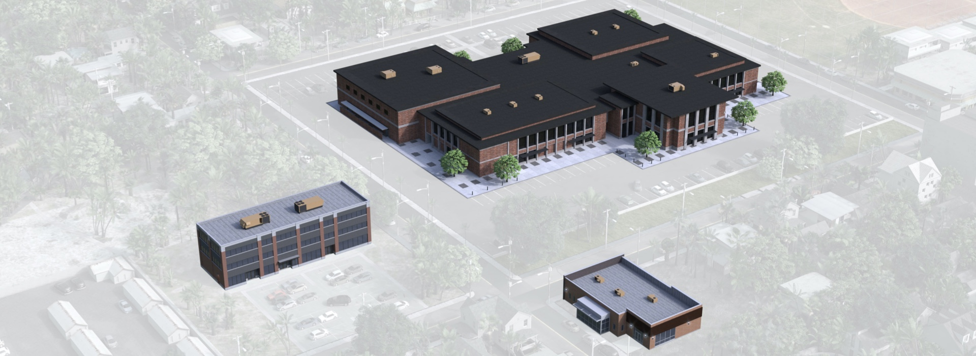 Background Image of three buildings